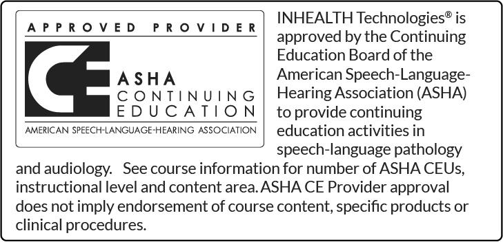 ASHA Continuing Education label