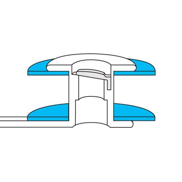 Large Flange (Esophageal & Tracheal) - cutaway